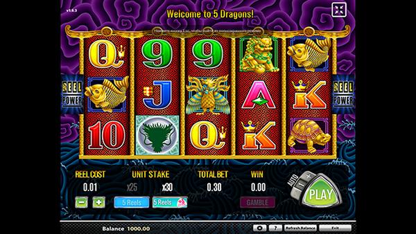 5 Dragons Slot by Aristocrat Gaming