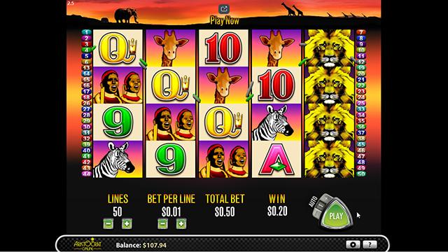 50 Lions Slot Machine Aristocrat
