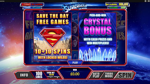 Superman the Movie Bonus Game