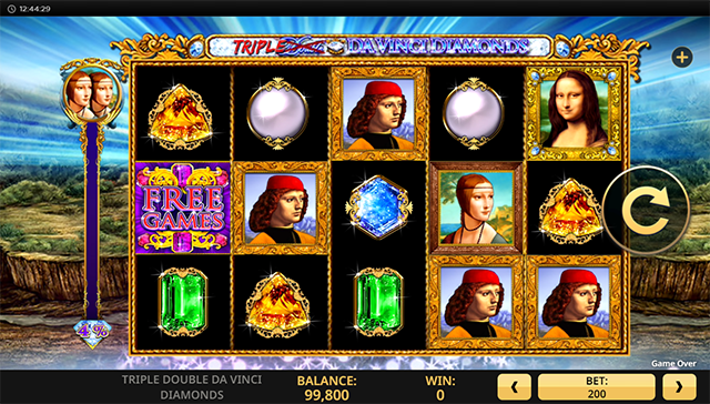 Triple Double Da Vinci Diamonds Slot Game High 5 Games