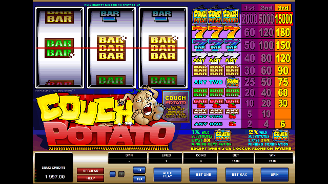 Couch Potato Slot Microgaming