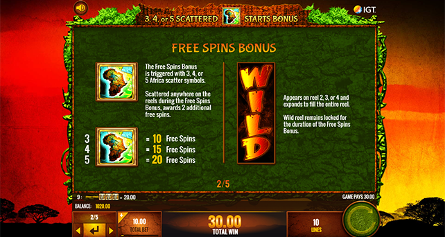Wild Life Slot Machine Bonus Game